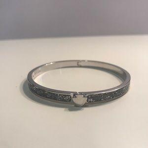 Kate Spade - Silver Glitter - Thin Bangle Bracelet